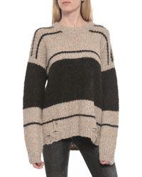 Raquel Allegra Over Sized Sweater beige - Lyst