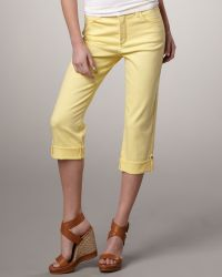 Not Your Daughter's Jeans Carmen Button-Cuff Cropped Jeans yellow - Lyst