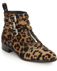 Tabitha Simmons | Early Leopard-print Calf Hair Ankle Boots | Lyst