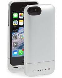 Mophie - 'juice Pack Helium' Iphone 5/5s Charging Case - Metallic - Lyst