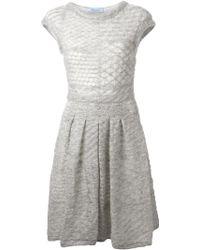 Blumarine Knitted Dress - Lyst