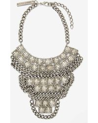 Nasty Gal Goldbarr Corsica Necklace silver - Lyst