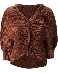 Issey Miyake Oversized Ribbed Jacket - Lyst