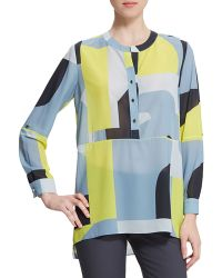 Raoul Large-Print Tunic Blouse - Lyst