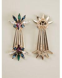 Anton Heunis Palm Leaf Drop Earrings - Lyst