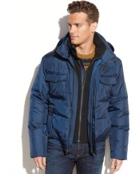 Cole Haan Signature Hooded Puffer Jacket - Lyst