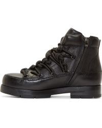 3.1 Phillip Lim - Black Leather Hiking Boots - Lyst