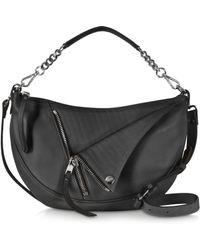 Jean Paul Gaultier - Black Leather Hobo W/double Shoulder Strap - Lyst