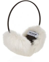 Yves Salomon - Rabbit Fur Earmuffs - Lyst