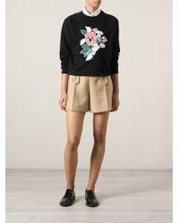 Carven | Flower Embroidered Sweatshirt | Lyst