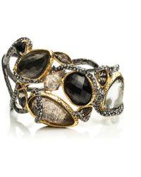 Alexis Bittar Dark Phoenix Asymmetrical Vine Hinged Bracelet gold - Lyst