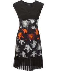 Paul Smith Black Label Panelled Floral Print Dress - Lyst