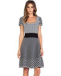Catherine Malandrino Genevieve Fit Flare Knit Jacquard Dress - Lyst