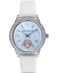 Ted Baker Crystal Embellished Bezel Watch 34mm - Lyst