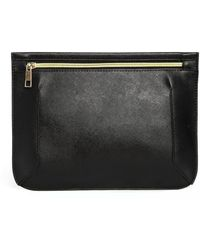 Asos Padded Clutch Bag with Zip Top - Lyst