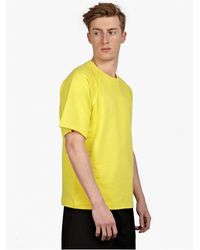 Jil Sander Men'S Yellow Short-Sleeved Cotton Sweatshirt - Lyst