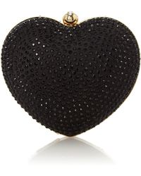 Love Moschino Black Heart Shape Cross Body Bag - Lyst