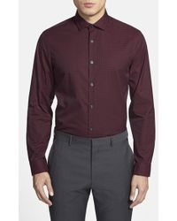 Calibrate Trim Fit Gingham Sport Shirt - Lyst