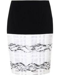 Prabal Gurung Window-pane Crepe Skirt - Lyst
