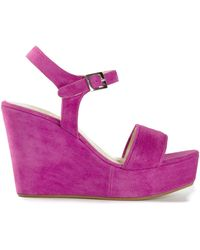 P.A.R.O.S.H. - Wedge Heel Sandals - Lyst