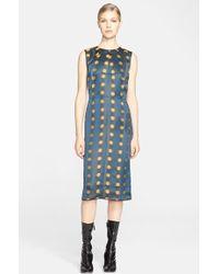 Marc Jacobs Blurred Spot Jacquard Dress teal - Lyst
