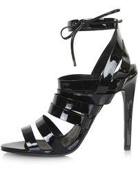 Topshop Rosie Patent Strappy Sandals - Lyst