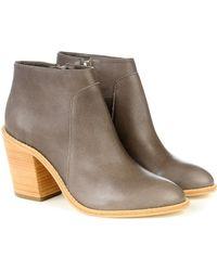 Loeffler Randall Ella Leather Ankle Boots - Lyst