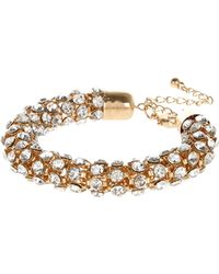 River Island Gold Tone Diamante Rope Bracelet - Lyst