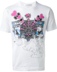 Comme Des Garçons Graphic Print Tshirt - Lyst