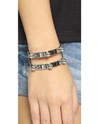 Joomi Lim Dot And Dash Sphere Bracelet - Rhodium - Metallic