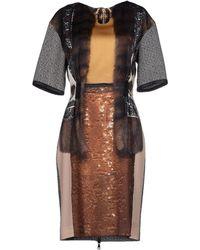 Venera Arapu Knee-length Dress - Green