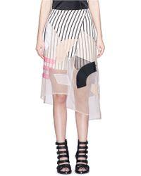 Acne   'karan Patch' Cubist Effect Patchwork Organza Skirt   Lyst