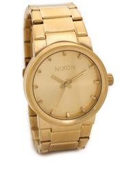 Nixon Cannon Watch  Gold - Lyst