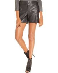 Inc International Concepts Black Faux-leather Shorts - Lyst
