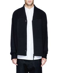 Helmut Lang Zip Front Chunky Knit Cardigan - Lyst