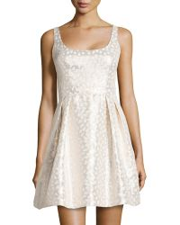 Shoshanna Fit-And-Flare Jacquard Party Dress - Lyst