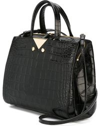 Emporio Armani Crocodile Texture Tote Bag - Black