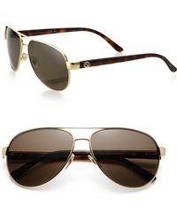 Gucci | 58mm Aviator Sunglasses | Lyst