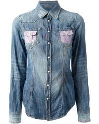 DSquared2 Blue Denim Shirt - Lyst