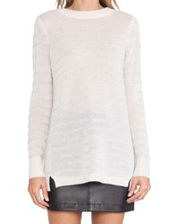 Rebecca Taylor Striped Sweater - Lyst