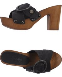 Replay Gray Sandals - Lyst