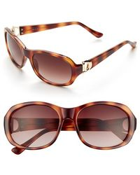 Ivanka Trump - 52mm Sunglasses - Honey Tortoise - Lyst
