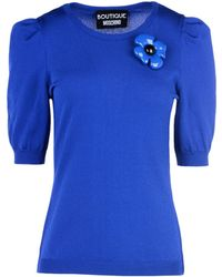 Boutique Moschino | Short Sleeve Sweater | Lyst