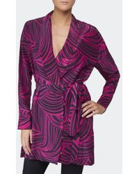 House Of Holland Silk Lounge Jacket - Lyst