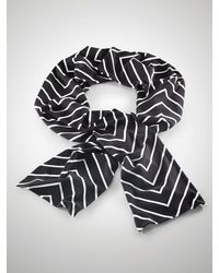 Ralph Lauren Chevron-print Jersey Scarf - Lyst
