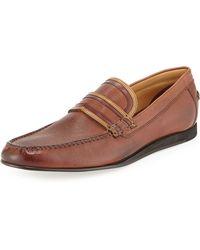Ben Sherman Stewart Tonal Leather Loafer - Lyst