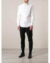Giorgio Armani Micro Check Shirt - Lyst