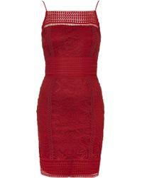 Topshop | Floral Crochet Lace Bodycon Dress | Lyst