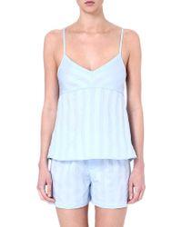 Bodas Cotton Camisole Blue - Lyst