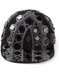 Ktz Embroidered and Embellished Cap - Lyst